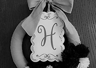 This H is from what would have been my Grandmother Harriet's 100th birthday celebration; a strong caring woman whom I'm proud to be named after!